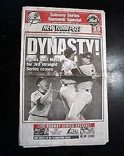 Best NEW YORK YANKEES Win Subway World Series Baseball Champions 2000 Newspaper NEW YORK POST, Subway Series Souvenir Special, October 27, 2000