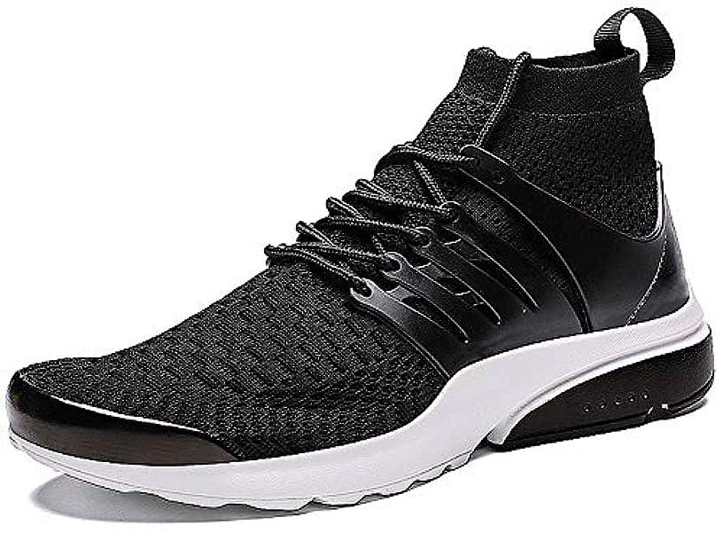 JIYE Men's Running Shoes Sock-Like Free Transform Flyknit Sport Fashion Sneakers