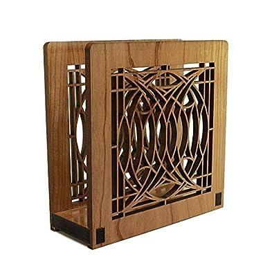 Frank Lloyd Wright BLOSSOM HOUSE Design Laser Cut Wood Napkin Holder