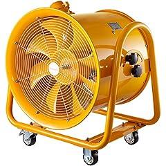 Mophorn konstruktion fläkt 20 tums axiell fläkt explosionssäker axiell fläkt konstruktion fläkt 900W vind maskin med hjul