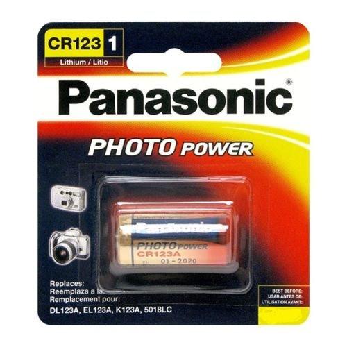 4er Original Panasonic CR123A / CR123 / CR17345 Lithium Batterie (3 V) 1400 mAh - Industrielle Zelle für Taschenlampen, Kameras und PIR-Sensoren - Made in Japan