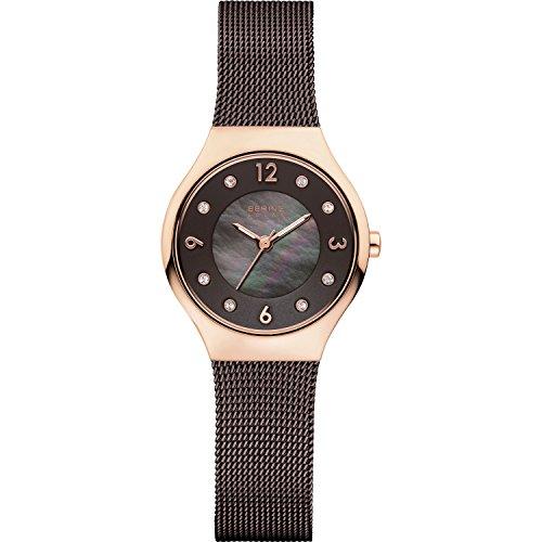 BERING Damen-Armbanduhr Analog Solar Edelstahl 14427-265