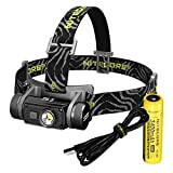 Nitecore HC60 1000 Lumen USB Rechargeable LED Headlamp, 3400 mAh Rechargeable Battery Plus LumenTac Adapters (White Light)