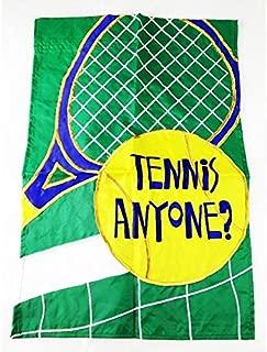 tennis anyone garden flag