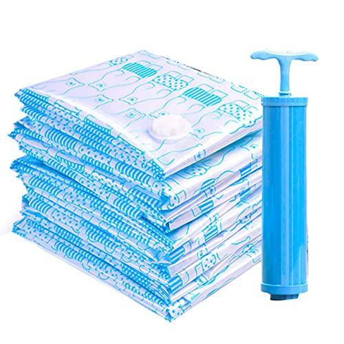 MOVKZACV Bolsas de almacenamiento al vacío, 11 unidades, bolsas de almacenamiento reutilizables, bolsas de almacenamiento para ropa de cama para ahorrar espacio máximo