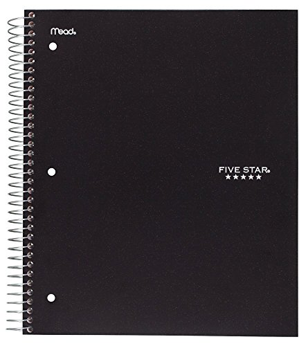 Five Star Spiral Notebook, 1 Subject, 100 College Ruled Sheets, Assorted Colo... Photo #7