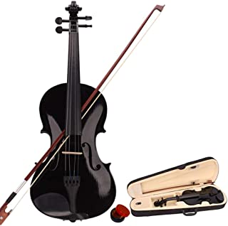ratiomise Full Size 4/4 Acoustic Violin Set, Basswood Violin Starter Kit for Beginners Students Adults with Carrying Case,...