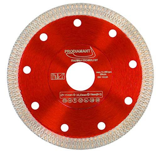 PRODIAMANT Disco diamantato Premium per piastrelle gres porcellanato 115 mm x 22,23 mm Disco diamantato PDX93.936