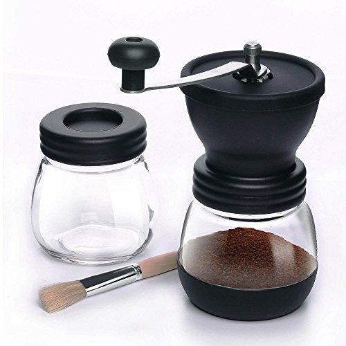 TFENG Manuelle Kaffeemühle, Handkaffeemühle mit Keramikmahlwerk Einstellbar Handmühle