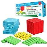 Simply Magic 131 PCS Foam Base Ten Blocks for Math - Place Value Blocks, Base 10 Math Manipulatives K-3, Math Counters, Number Blocks, Math Cubes, Kids Counting Blocks, Kindergarten 1st 2nd 3rd Grade