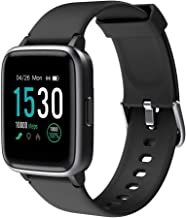 KUNGIX Smart Watch, Full Touch Screen Fitness Tracker with Heart Rate Monitor, 5ATM Waterproof Smartwatch Pedometer, Activity Tracker Sport Wristband Compatible for Android iOS Kids Women Man