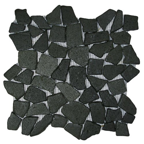 Glazed Black Mosaic Tile Sample
