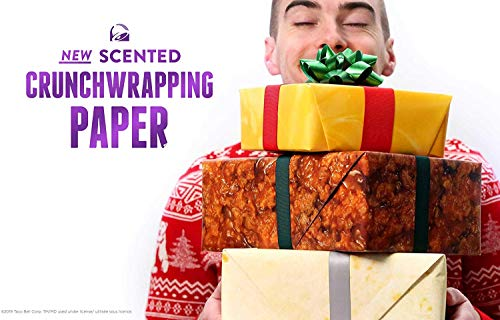 Taco Bell Scented CrunchWrapping Paper - Holiday Gift Wrap