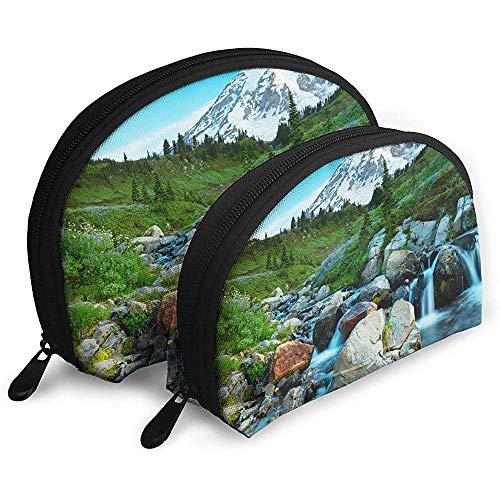 Estados Unidos Parque Nacional Monte Rainier Naturaleza Paisaje Bolsas portátiles Bolsas de Maquillaje Bolsa de Aseo Bolsas de Viaje portátiles multifunción