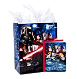 Hallmark 13' Large Star Wars Gift Bag with Birthday Card and Tissue Paper (Darth Vader, Boba Fett, Stormtroopers)
