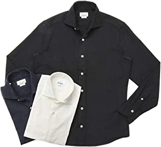 Giannetto(ジャンネット)コットンライトネルソリッドセミワイドカラーシャツ VINCI FIT/92031502300V81 11092004109