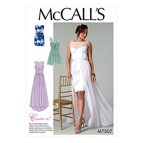 McCall's Patterns 7507 E5, Robes, Tailles 14–22, Multi/Couleur
