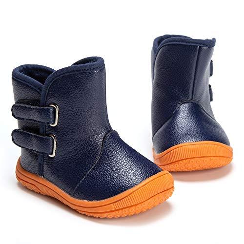 Columbia Toddler Powderbug Plus Winter Boot (Toddler), Black/Hyper Blue, 4 M US Toddler