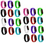 Pappi-Haunt M3 LED Orologio da polso da uomo e ragazza con quadrante digitale multicolore -...