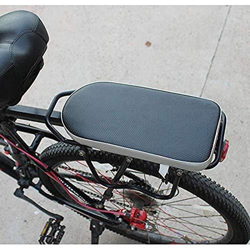 MUZIWENJU Fahrrad-Kindersitz Fahrrad hinten Bracket-Fuss-Auflage Rücksitzpolster Dicke Kissen Carry Kind Baby (Farbe : Black with White)