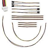 elechawk I2C Qwiic Cable Kit Stemma QT Wire for SparkFun Development Boards Sensor Board Breakout Breadboard 4 Pin Sh1.0 Connector