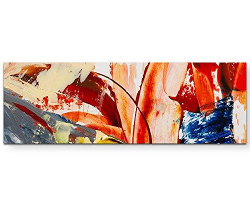 Abstract schilderij - penseelstreep 150x50cm