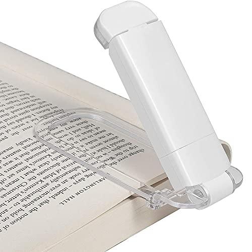 Furado Lámpara de Lectura con Clip LED Luz de Libro,Luz de Lectura Recargable USB Junto a la Cama,Luz de Marcador Portátil,3 Niveles de Brillo AjustablesApto para Leer en La Cama,Regalo para Niños
