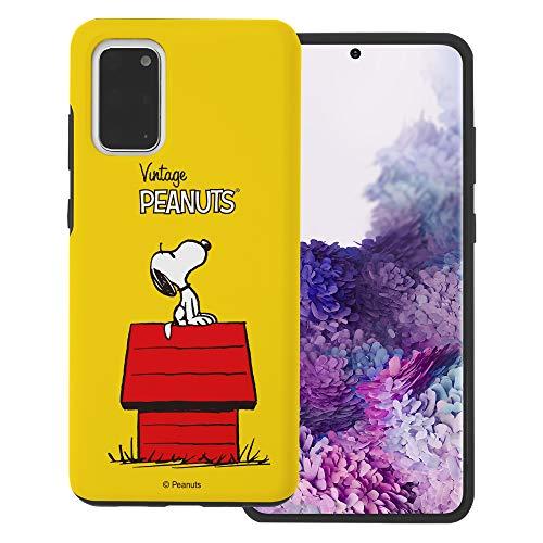 """Galaxy S20 ケース と互換性があります Peanuts Snoopy ピーナッツ スヌーピー ダブル バンパー ケース デュアルレイヤー 【 ギャラクシー S20 ケース (6.2"""") 】 (シンプル スヌーピー 家) [並行輸入品]"""