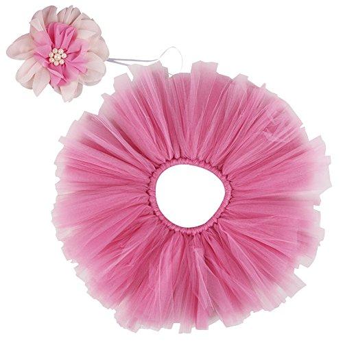 Free Fisher Baby Mädchen 2er Bekleidungsset (Rock Stirnband), Kostüm für Neugeborenes, Pink, 0-2 Monate ( Herstellergröße: S)