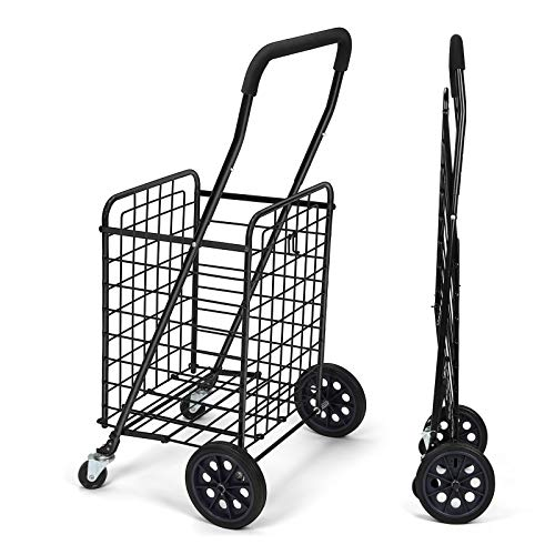 Pipishell Shopping Cart With Dual Swivel Wheels