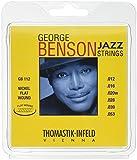 Thomastik-Infeld GB112 Jazz Guitar Strings: George Benson 6 String Set - Pure Nickel Flat Wounds E, B, G, D, A, E Set
