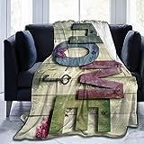 3D Home Vintage Holzdecke für Kinder Baby Soft Fleece Decke für Erwachsene Männer, Twin (60x80)