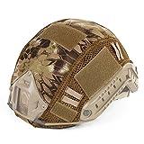 Lejie Casque Tactique Rapide de Combat Militaire de Camouflage de Couverture pour Le Type MH/PJ Casque Rapide Airsoft Paintball Chasse équipemen