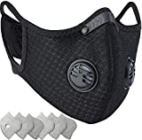 Dust Mask,JR Fitness Dust Mask with Earloop and Activated Carbon Filter For Sport