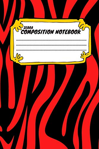 Zebra Composition Notebook: Cute Azure Zebra Stripes Print. Trendy Design Zebra Skin Paper Wide Ruled Notebook Journal. Blank Lined Workbook for Teens ... Notes. (Composition Notebooks, Band 19)
