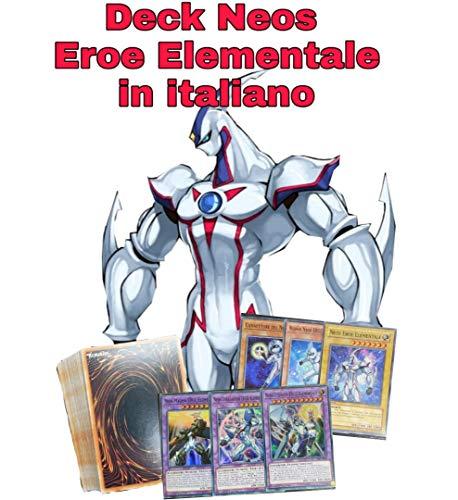 Yu-Gi-Oh! - Deck Completo - Neos Eroe Elementale - Mazzo Completo di 40 Carte + Fusioni - Pronto per Duellare