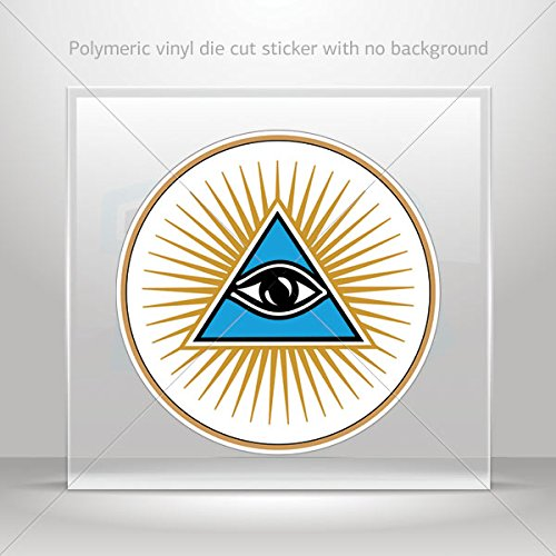 Decals Decal Pyramid all-seeing eye of Providence masonic symbol Atv W (3 X 3 Inches)