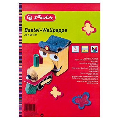 Herlitz 242008 Bastelwellpappe E-Welle, 10er Pack