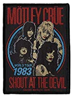 MOTLEY CRUE・モトリークルー・SHOUT AT THE DEVIL・ PATCH 糊無し 刺繍ワッペン オフィシャル パッチ