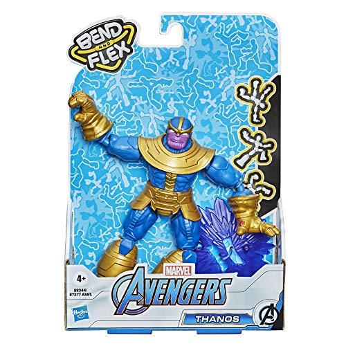Marvel Avengers Bend And Flex Action-Figur, 15 cm große biegbare Thanos Figur, enthält ein Effekt-Accessoire, für Kids ab 6 Jahren