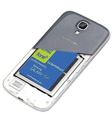 S4 SlimPWRcard - Ricevitore a Bobina per Caricabatteria Wireless QI 0.5mm di spessore per Samsung Galaxy S4 SIV i9500 i9505 con Supporto Mobile NFC