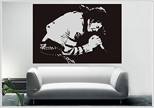 Deco-idea Wandtattoo wandaufkleber wandsticker Photo Porträt Michael Jackson tanzen wph035(Printed Sticker,ca.15 x 6cm)