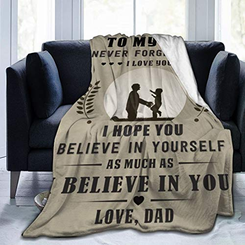 Greatertouch Manta de franela de forro polar multiestilo para mi hijo, colcha para decoración del hogar, sofá, playa, picnic, viajes, 122 x 102 cm, manta para niños