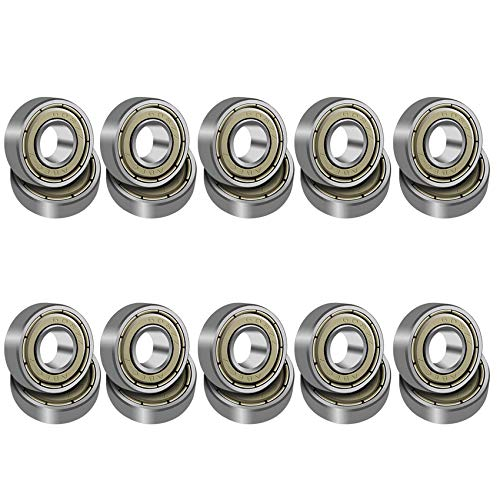 Sunshine smile 608 ZZ Kugellager, 20 Pack 8 x 22 x 7mm Metall Double Shielded Miniatur Rillenkugellager,Skateboard Kugellager,Longboard Roller Rollschuhen Kugellager