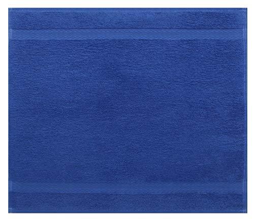 Betz Serviette débarbouillette Lavette Taille 30 x 30 cm 100% Coton Premium Couleur Bleu Royal
