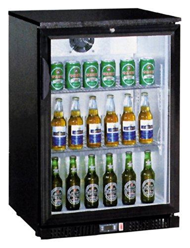 Rafraîchisseur de bouteille, 138 l, 600 x 520 x 900 mm, avec porte en verre,