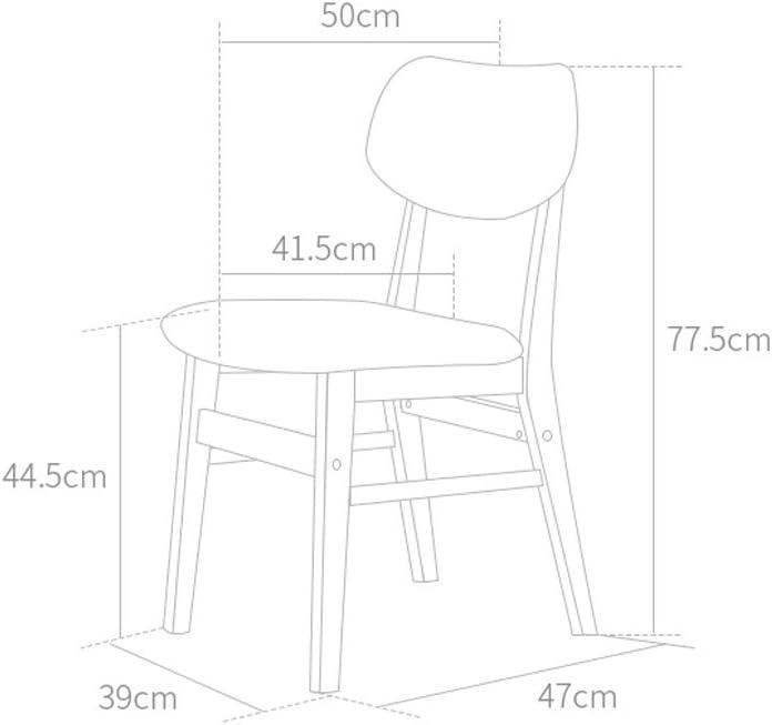 XXT Moderne Minimaliste Chaise en Bois Massif Chaise de Bureau Chaise de Restaurant Durable (Color : D) C