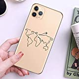 OWIME World Map Travel Just Go Funda de teléfono para iPhone XS MAX X 11Pro XR 7 8 6 6s Plus 5 SE Fashion Clear Silicone Soft Back Cover Coque-para iPhone XR_T9360_China