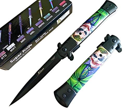9' Joker Tactical Spring Assisted Open Folding EDC Blade Pocket Knife Hunting Survival Knife