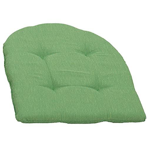 Beo Sitzkissen Stuhl 41x41 Halbrund   Atmungsaktives Sitzkissen Gartenstuhl Made in EU   UV-beständiges Sitzpolster Gartenstuhl   Stuhlkissen Outdoor waschbar   Sitzkissen Bank in Hell-Grün